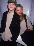 Actor Leonardo Dicaprio with Model Bridget Hall