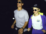 Singer Madonna Jogging with Boyfriend Tony Ward  Both Wearing Sunglasses