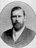 "Engraved Portrait of ""Dracula"" Author Bram Stoker"