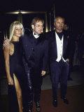Designer Donatello Versace  Singer Songwriter Elton John and Designer Gianni Versace