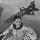 Pilot Scott Crossfield Standing in Front of the X-15