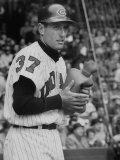 Cleveland Indians Jimmy Piersall Warming His Hands with a Hot Water Bottle before Going to Bat