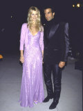 Model Claudia Schiffer and Boyfriend  Magician David Copperfield  at Oscar Party