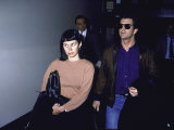 Actor Mel Gibson  Wearing Sunglasses  and Wife Robyn