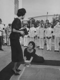 Girl Prostrating before Queen Sirikit