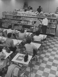 Students Attending a Night Supermarket Class at Bakersfield Junior College