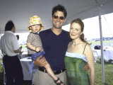 Director Bart Freundlich and Girlfriend  Actress Julianne Moore  and their Son