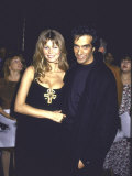 Model Claudia Schiffer and Boyfriend  Magician David Copperfield