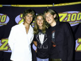 Members of Family Musical Group Hanson Isacc  Zach and Taylor Hanson