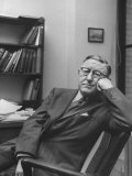 Harvard University Professor William Leonard Langer Sitting in His Office