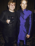 Singer Songwriter Elton John and Partner David Furnish at Glaad Media Awards