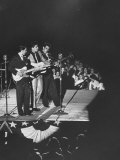 Singer Ricky Nelson and Band Duing a Performance