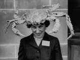 Woman Wearing a Crab Hat at the League of Women Voter&#39;s Convention