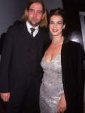 Figure Skater Katarina Witt with Boyfriend at 45th Anniversary Party for Playboy
