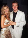 "Dating Actors Tate Donovan and Jennifer Aniston at the Film Premiere for ""Picture Perfect"""