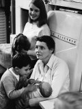 Actress Patricia Neal at Home W Her Children Including Young Son Theo and Baby Lucy