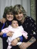 Rock Musician Ozzy Osbourne  Wife Sharon Arden and their Daughter Aimee