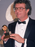 Singer Randy Newman Holding a Grammy Award