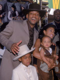 "Actor Will Smith with Wife Jada Pinkett-Smith and Sons at Film Premiere for ""Wild Wild West"""