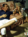 Project Mercury Astronaut Scott Carpenter and Wife Rene Relaxing at Home