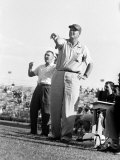 Football Coach Paul Bear Bryant of Texas A&M Pointing from the Sidelines During a Game