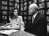Jacqueline Kennedy Onassis and Boss Thomas H Guinzburg at Viking Press