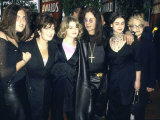 Musician Ozzy Osbourne and Family  Incl Wife Sharon  Daughter Kelly and Son Jack