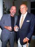 Singer Songwriter Billy Joel and Music Executive Ahmet Ertegun at Star Benefit