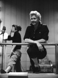 "Actresses Allyn Ann Mclerie and Doris Day During Rehearsals for the Film ""Calamity Jane"""