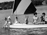 Family of Apollo 8 Astronaut William Anders on a Sailboat