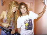 Rock Musicians Zack and Ozzy Osbourne