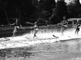 Family of Apollo 8 Astronaut William Anders Water Skiing