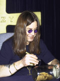 Rock Musician Ozzy Osbourne Signing New Album Cd at the Virgin Megastore