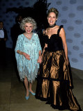 Comedian Phyllis Diller with Actress Sharon Stone at the Comedy Hall of Fame