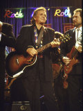 Singer Johnny Cash Performing