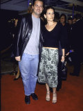 "Actor Matthew Perry and Girlfriend Rene Ashton at Film Premiere of ""Fight Club"""
