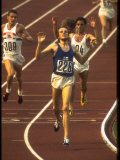 Swedish Athlete Lasse Viren in the Lead During 5 000M Race at Summer Olympics
