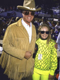 Actors Larry Hagman  Wearing Cowboy Hat  and Charlene Tilton  Both Wearing Sunglasses