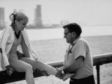 Olympic Gold Medal Cathy Rigby   Having Ankle Rubbed by Coach  Bud Marquette after Practice
