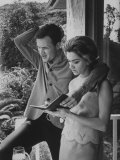 Country Singer Roger Miller and His Wife at Home