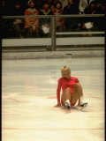 Figure Skater Janet Lynn after a Fall at the 1972 Winter Olympics