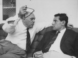 Italian Film Maker  Carlo Ponti  with Czech Director  Milos Forman  While Visiting New York City