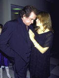 Country Music Artist Johnny Cash with Stepdaughter  Singer Rosanne Cash