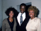 Singer Whitney Houston with Brother and Mom  Cissy
