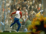 Ludvig Danek of Czechoslovakia in Action During the Discus Event at the Summer Olympics
