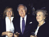 Television News Broadcaster Walter Cronkite and Wife Betsy with at Oscar-Watching Party