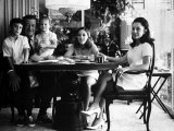 Actor John Wayne with Wife and Family in their Home