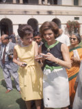First Lady Jackie Kennedy W Sister Lee Radziwill on Goodwill Tour