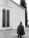 Artist Henri Matisse Standing Outside the Chapel He Designed