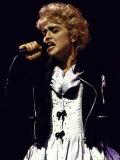 Singer Madonna Performing